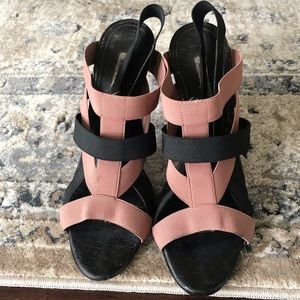 Manolo Blahnik Orina Elastic Black Sandal